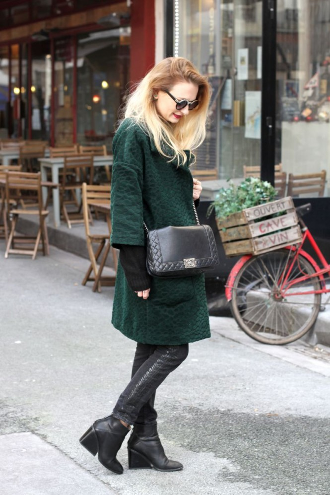 chloe and you blog mode manteau vert